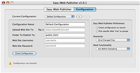 Easy iWeb Publisher
