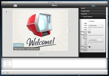 HTML5 Gallery Editor for Freeway