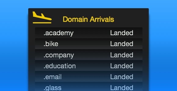 The New Top Level domains have arrived
